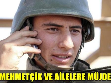 ASKERLERİN CEP TELEFONU ÖZLEMİ SON BULDU, MEHMETÇİK TELEFONLARA KAVUŞTU!..