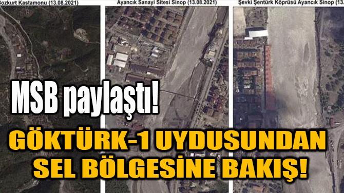 MSB PAYLAŞTI! GÖKTÜRK-1 UYDUSUNDAN SEL BÖLGESİNE BAKIŞ!