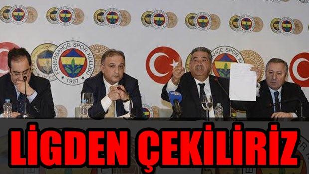 """FENERBAHÇE'DEN FLAŞ BASIN TOPLANTISI! """"LİGDEN ÇEKİLİRİZ!"""