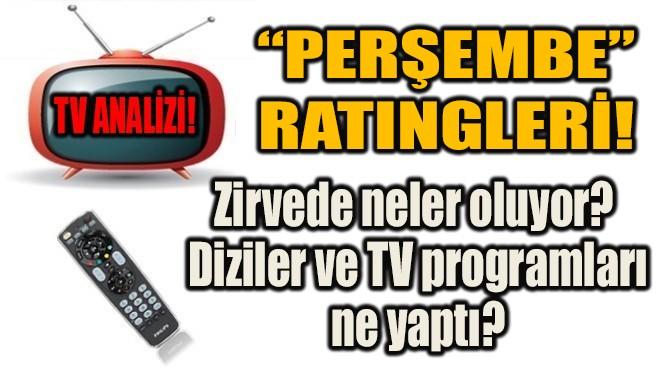 DİZİLER VE TV PROGRAMLARI NE YAPTI?