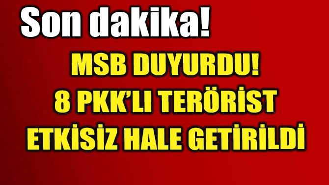 TSK'DAN AVAŞİN BASYAN BÖLGESİNE HAREKAT: 8 PKK'LI ÖLDÜRÜLDÜ