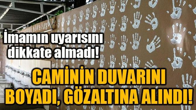 CAMİNİN DUVARINI BOYADI, GÖZALTINA ALINDI!