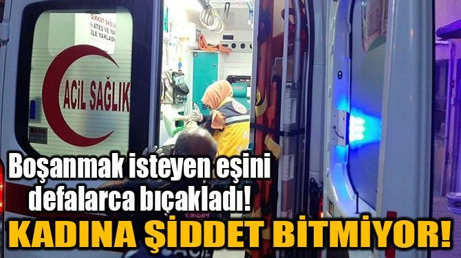 KADINA ŞİDDET BİTMİYOR!