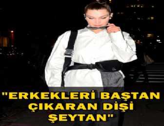 """BELLA HADID """"SUCCUBUS"""" YAZILI GÖMLEĞİYLE SOKAĞA ÇIKTI!.."""