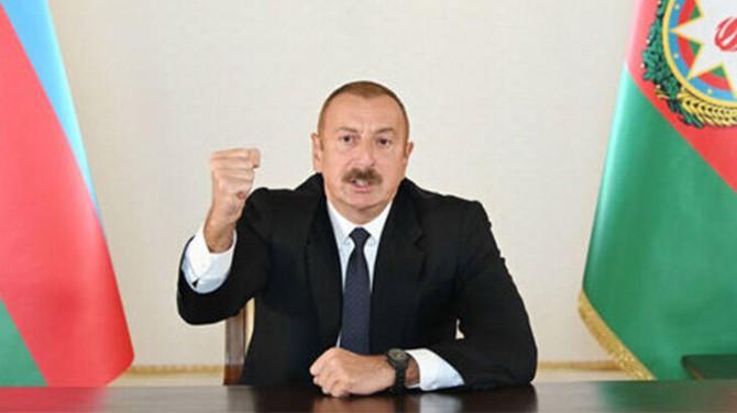 ALÇAK SALDIRISI  SONRASINDA  ALİYEV'DEN  AÇIKLAMA