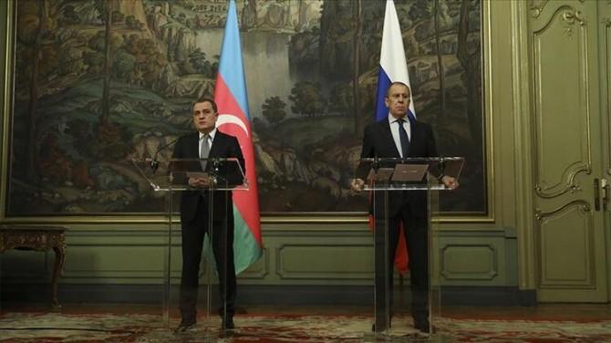 AZERBAYCAN VE RUSYA DIŞİŞLERİ BAKANLARI GÖRÜŞME GERÇEKLEŞTİRDİ!