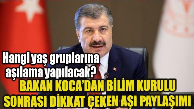 """FAHRETTİN KOCA: """"AŞI PLANLAMASINI ELE ALDIK"""""""