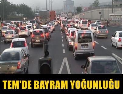 RAMAZAN BAYRAMI SEBEBİYLE YOLA ÇIKAN TATİLCİLER TEM'DE ARAÇ YOĞUNLUĞU OLUŞTURDU!..