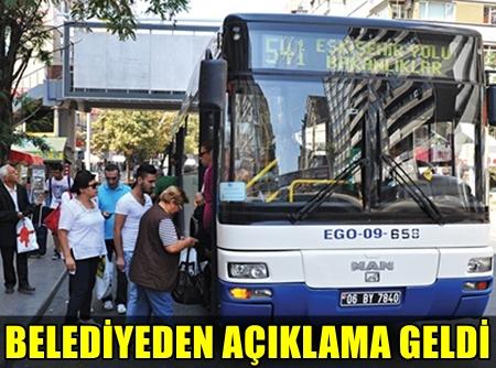 ANKARA'DA ÜCRETSİZ ULAŞIM SEFERLERİ 1 HAFTA DAHA UZATILDI!..