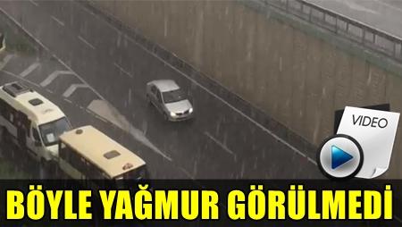 İSTANBUL'DA ŞAŞIRTAN DOLU SÜRPRİZİ! VATANDAŞLAR ZOR ANLAR YAŞADI!..