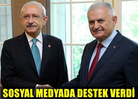 BAŞBAKAN BİNALİ YILDIRIM, CHP LİDERİ KEMAL KILIÇDAROĞLU'NUN TWEET'İNİ PAYLAŞTI!..