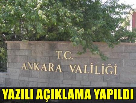 ANKARA VALİLİĞİ'NDEN AÇIKLAMA GELDİ! 3 BİN 679 KİŞİ TUTUKLANDI!..