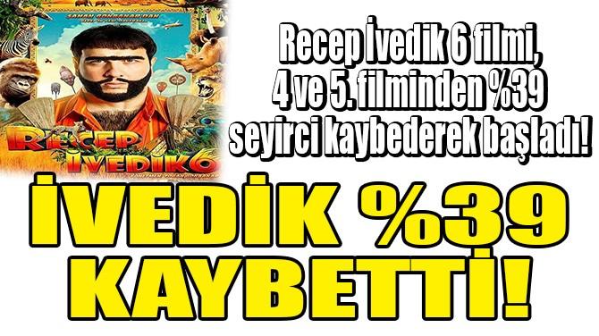 RECEP İVEDİK %39 KAYBETTİ!