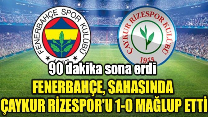 FENERBAHÇE, SAHASINDA ÇAYKUR RİZESPOR'U 1-0 MAĞLUP ETTİ