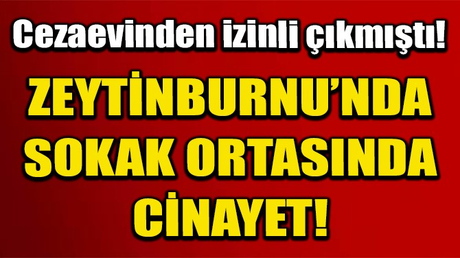 ZEYTİNBURNU'NDA SOKAK ORTASINDA CİNAYET!