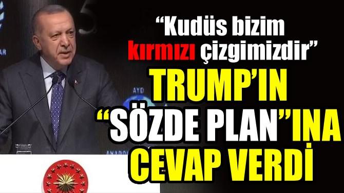 """TRUMP'IN """"SÖZDE PLANI""""NA CEVAP VERDİ"""