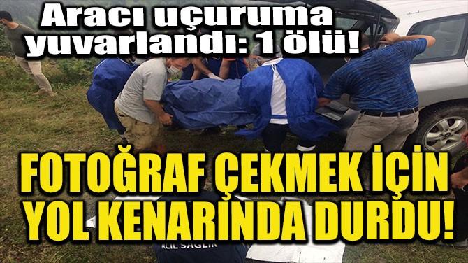 FOTOĞRAF ÇEKMEK İÇİN YOL KENARINDA DURDU!