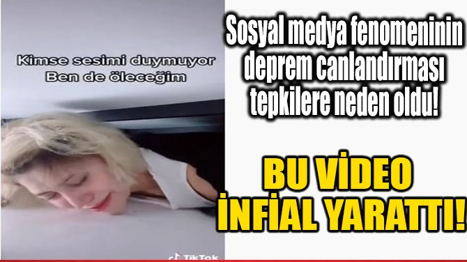 BU VİDEO İNFİAL YARATTI!