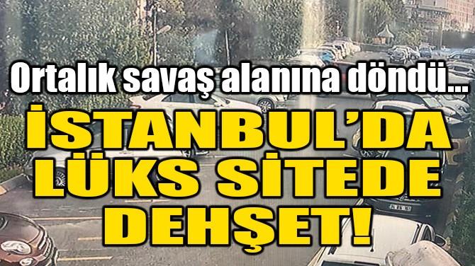 İSTANBUL'DA LÜKS SİTEDE DEHŞET! ORTALIK SAVAŞ ALANINA DÖNDÜ