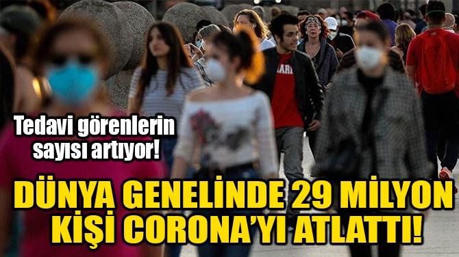 DÜNYA GENELİNDE 29 MİLYON KİŞİ CORONA'YI ATLATTI!