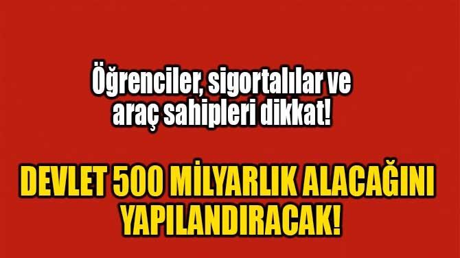 DEVLET 500 MİLYARLIK ALACAĞINI YAPILANDIRACAK!