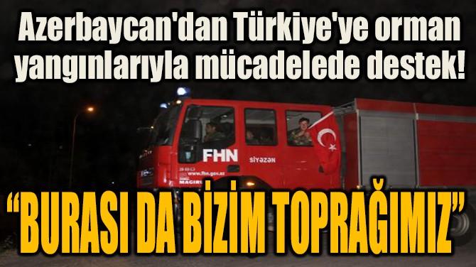 AZERBAYCAN'DAN TÜRKİYE'YE ORMAN YANGINLARIYLA MÜCADELEDE DESTEK!