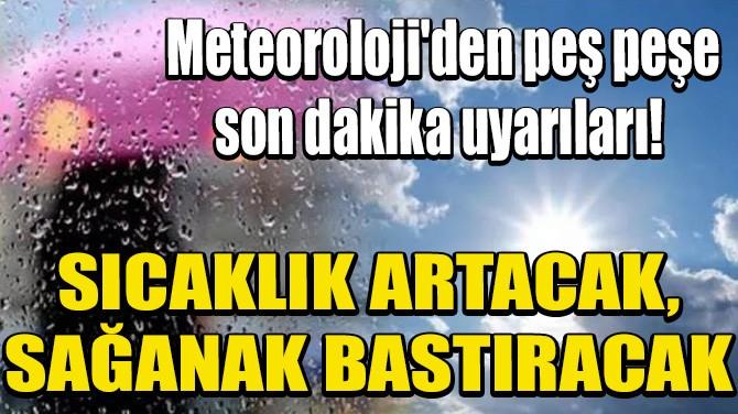 METEOROLOJİ'DEN PEŞ PEŞE SON DAKİKA UYARILARI!
