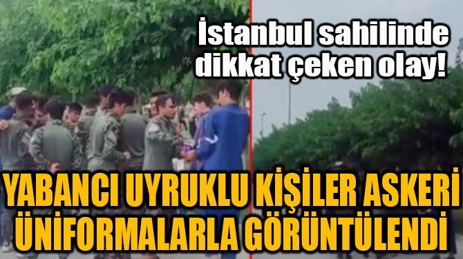 İSTANBUL SAHİLİNDE DİKKAT ÇEKEN OLAY!