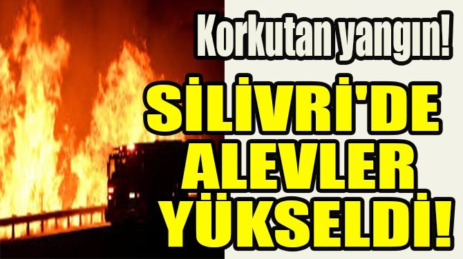 SİLİVRİ'DE ALEVLER YÜKSELDİ!