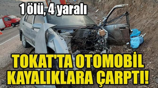 TOKAT'TA OTOMOBİL KAYALIKLARA ÇARPTI!