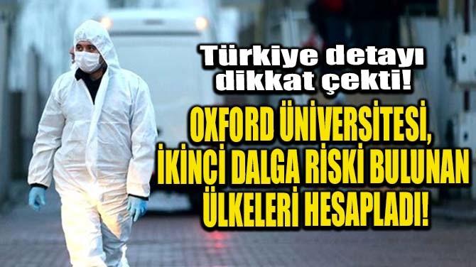 OXFORD ÜNİVERSİTESİ, 2. DALGA RİSKİ BULUNAN ÜLKELERİ HESAPLADI!