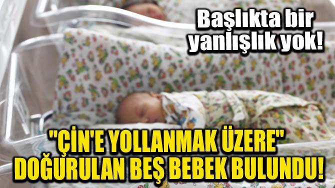 """""""ÇİN'E YOLLANMAK ÜZERE"""" DOĞURULAN BEŞ BEBEK BULUNDU!"""
