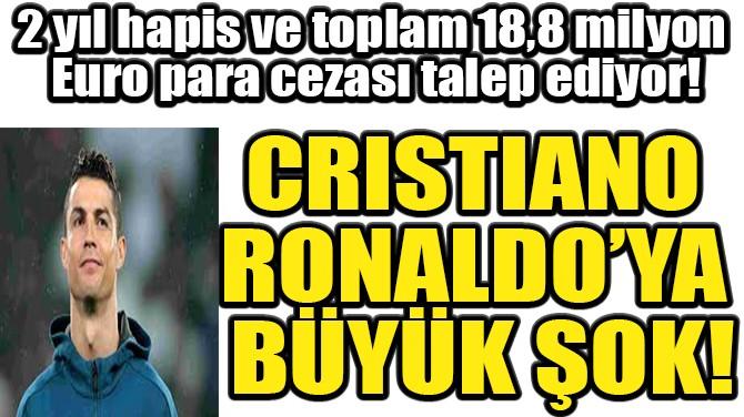 CRISTIANO  RONALDO'YA  BÜYÜK ŞOK!