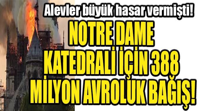 NOTRE DAME KATEDRALİ İÇİN 388 MİLYON AVROLUK BAĞIŞ!