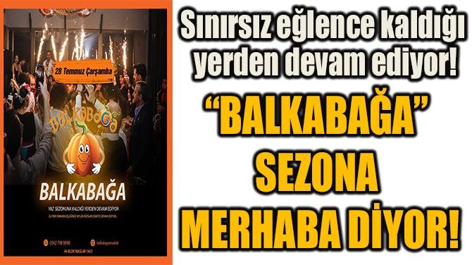 """""""BALKABAĞA"""" SEZONA  MERHABA DİYOR!"""