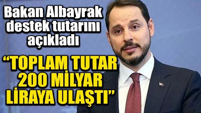 """TOPLAM TUTAR 200 MİLYAR LİRAYA ULAŞTI"""