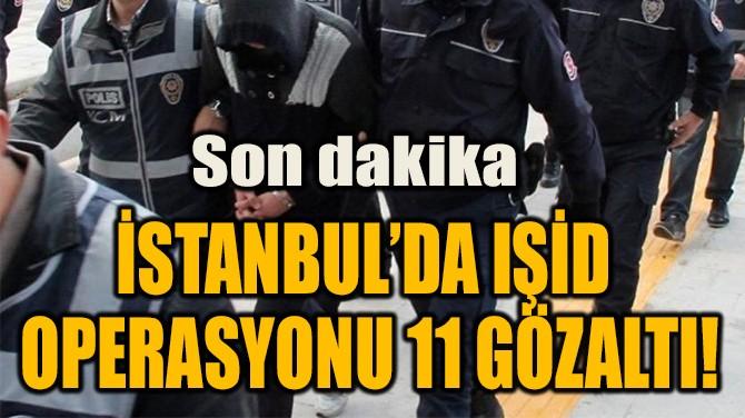 İSTANBUL'DA IŞİD OPERASYONU 11 GÖZALTI!