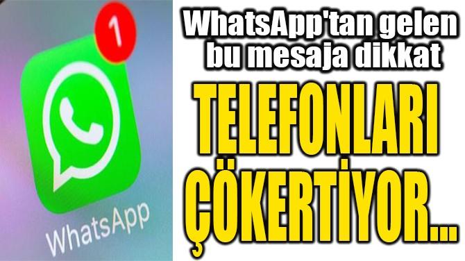 TELEFONLARI  ÇÖKERTİYOR...