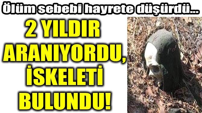 2 YILDIR  ARANIYORDU, İSKELETİ BULUNDU!