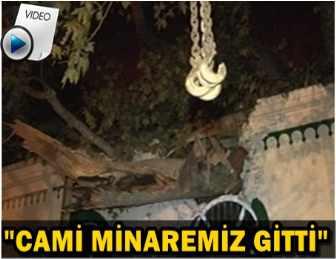 BEYKOZ'DA TARİHİ ÇINAR, CAMİNİN ÜZERİNE DEVRİLDİ!..