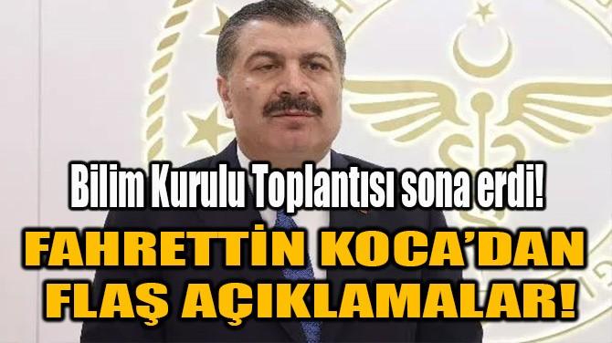 FAHRETTİN KOCA'DAN FLAŞ AÇIKLAMALAR!