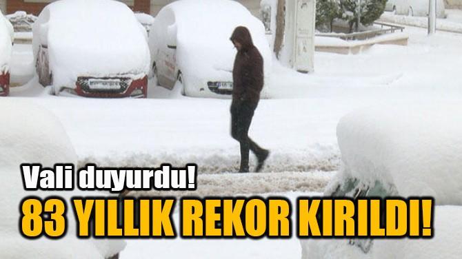 83 YILLIK REKOR KIRILDI!