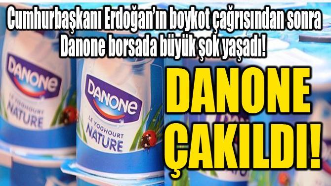 DANONE ÇAKILDI!
