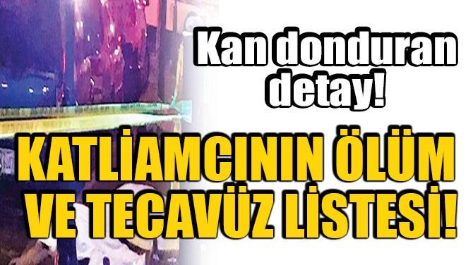 KATLİAMCININ 'ÖLÜM VE TECAVÜZ LİSTESİ' VARDI!