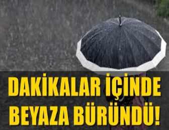MARMARİS'TE BEKLENEN KUVVETLİ YAĞIŞ DOLUYLA GELDİ!..