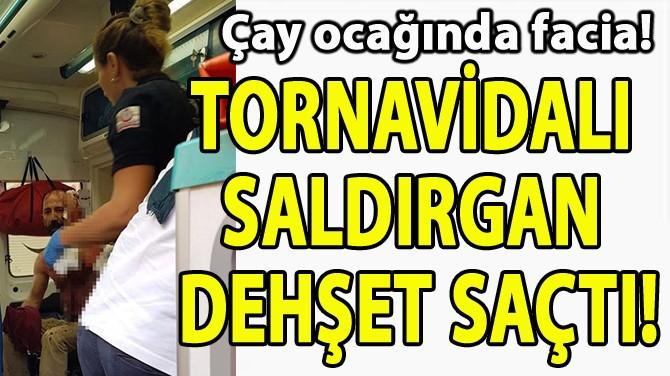 TORNAVİDALI SALDIRGAN DEHŞET SAÇTI!