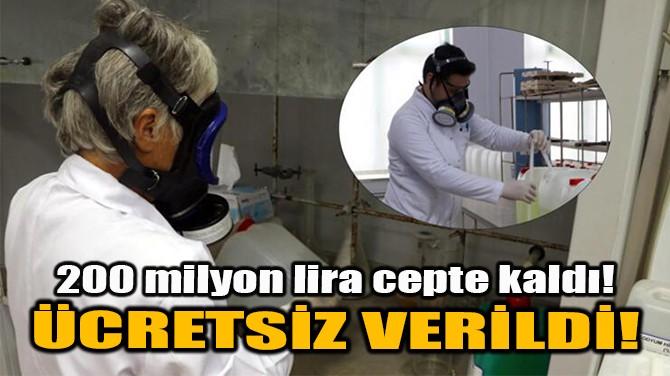 ÜCRETSİZ VERİLDİ!