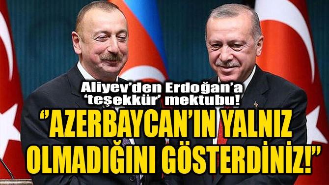 ''AZERBAYCAN'IN YALNIZ OLMADIĞINI GÖSTERDİNİZ!''
