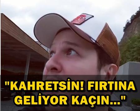 ŞAHAN GÖKBAKAR'IN ESPRİLİ FIRTINA PAYLAŞIMI!..