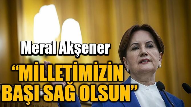 """""""MİLLETİMİZİN BAŞI SAĞ OLSUN"""""""